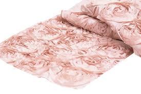pink rosette table runner jd events san diego wedding event design rosetta table runner