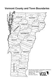 Vermont County Map Vermont Counties