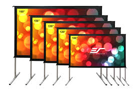 outdoor projector screen for movies elite screens