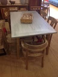 Ebay Furniture Dining Room Medium Daddy Zinc Top Oak Dining Table With Oak Frame Ebay