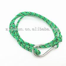 10 colors silver fish hook bracelet maritime nautical 3mm