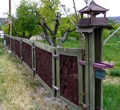 decorative wood privacy fence designs backyard back yard ideas