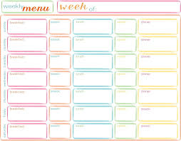 lunch box planner template 45 printable weekly meal planner templates kitty baby love
