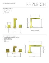 Tub Faucet Height Mix Series Specification Phylrich Pdf Catalogues