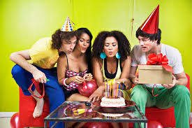 party for adults seeing a birthday in a dreameo