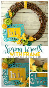 craft it forward by michaels spring wreath a and a glue gun