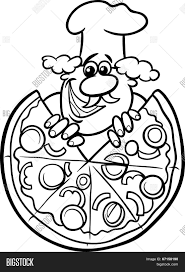 italian pizza cartoon coloring page stock vector u0026 stock photos