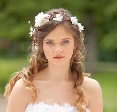 flower headpiece bridal hair accessories wedding flower headpiece white flower
