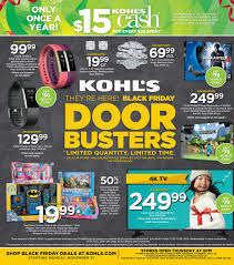 kohl s ps4 black friday kohl u0027s black friday 2016 doorbuster ad circular released see all