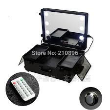 rolling makeup case with lighted mirror buy aluminum makeup case with legs and get free shipping on