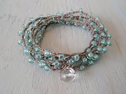 crochet bracelet with beads images Crochet beaded bracelet centerpieces bracelet ideas jpg