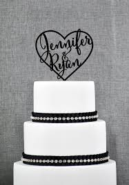 personalized cake topper wedding cake toppers with names inside heart personalized