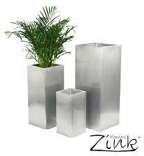 Indoor Plant Vases Zinc Square Flower U0026 Plant Planters Boxes Ebay