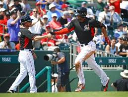 giancarlo stanton marlins jpg stanton s 1st hr since beaning helps marlins beat nats 5 4
