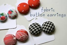 button earrings make something monday fabric button earrings rebekah gough