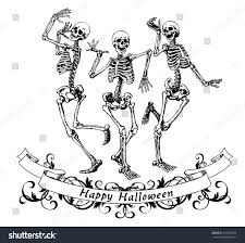 halloween dance clip art happy halloween dancing skeletons isolated vector stock vector
