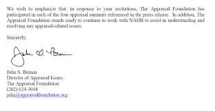 Appraisal Rebuttal Letter appraisal scoop appraisal foundation s response to nahb s flawed