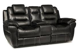 baxter 2 seater electric recliner with console black harvey