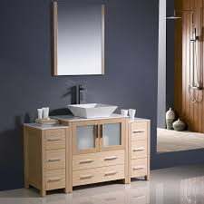 designer bathroom vanity 54 torino modern bathroom vanity light oak with 2 cabinets