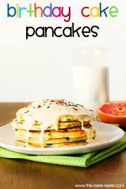 making these for evan u0027s birthday breakfast birthday cake pancakes