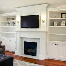 Living Room Fireplace Design by Bookcases Around Fireplace Family Room Bookshelves Around
