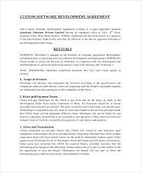 business development agreement template sample business