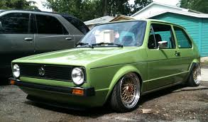 green volkswagen golf volkswagen golf 1 rabbit low rider