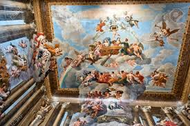 Ceiling Painting Showing Christian Images Inside Hampton Court