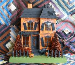halloween paper mache bethany lowe large haunted house minis