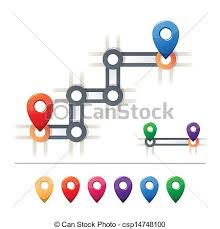 vector clipart of destination and map icons csp14748100 search