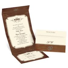 rustic wedding seal and send invitation invitations by
