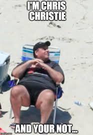 Private Meme Generator - gov chris christie on private beach imgflip