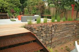 garden walls gabion evolves from functional to fabulous