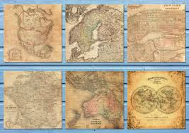 Maps Cu Antique Maps Digital Paper Vintage Maps Antique Maps Scrapbook