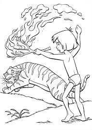 shere khan runaway mowgli jungle book coloring pages