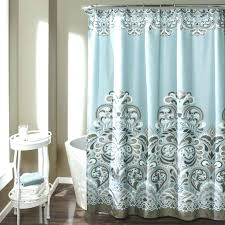 grey shower curtains gray and teal dandelion shower curtain