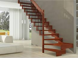 modern natural design of the bech stair rail that is nice design