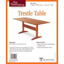Fine Woodworking Plans Pdf by Free Fine Woodworking Trestle Table Plans Woodworking Plans Ideas