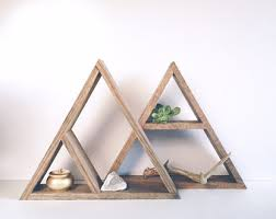 Wood Shelves Design by Geometric Shelf Etsy
