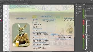 Cheapest State Australia Passport Template Fully Editable Psd 10 Cheapest