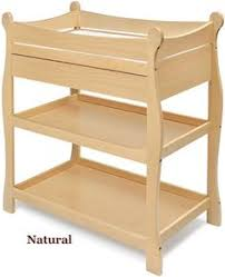 Sleigh Style Changing Table Lennox Changing Table W Drawer Honey Pine Furniture