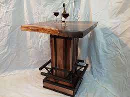 Edison Bistro Table Custom Live Edge Bistro Table By Puddle Town Woodworking
