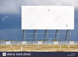 abandoned drive in movie theater winnipeg manitoba canada stock