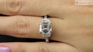vintage emerald cut engagement rings 2 86ct estate vintage emerald cut diamond engagement wedding ring