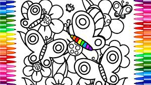 flowers and butterfly coloring pages drawing pages and learn