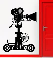online get cheap camera wall decal aliexpress com alibaba group picture movie projector antique camera hollywood old retro art vinyl wall decal sticker home room door