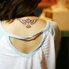 temporary tattoos neck back body makeup cross wings fake transfer