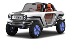 barbie jeep 1990s the suzuki e survivor concept is a ridiculously cool guess at how