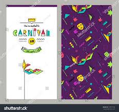 Flat Invitation Cards Carnival Invitation Cards 80s Memphis Style Stock Vector 573574198