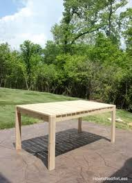 diy cedar patio table free plans at buildsomething com kreg